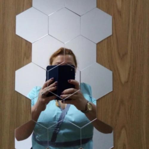 Naklejka ścienna z lustrem sześciokątnym ( 6 sztuk ) photo review